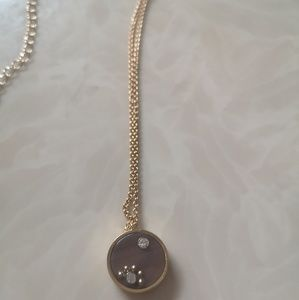 Kate spade out of her shell tortoise disc necklace